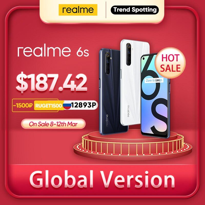 Realme 6s NFC, 90Hz, pantalla de 6,5 pulgadas, 6GB de RAM, 128GB de rom, batería de 4300mAh, batería de 30W, Android|Teléfonos móviles| - AliExpress