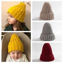 Вязаная Детская вязаная шапка для малышей, шапка для маленьких мальчиков и девочек, теплая детская шапка осень-зима для маленьких девочек, шапка для малышей, Muts Bonnet Enfant