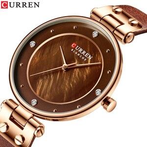 Image 2 - Relogiio Feminino CURREN ผู้หญิงนาฬิกาแบรนด์หรูสุภาพสตรีความคิดสร้างสรรค์นาฬิกาควอตซ์ชุดเหล็กตาข่ายนาฬิกานาฬิกาใหม่