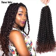 Wigs Hair-Bundles-Extensions Braids Kinky Twist Crochet Black Long-Passion Synthetic