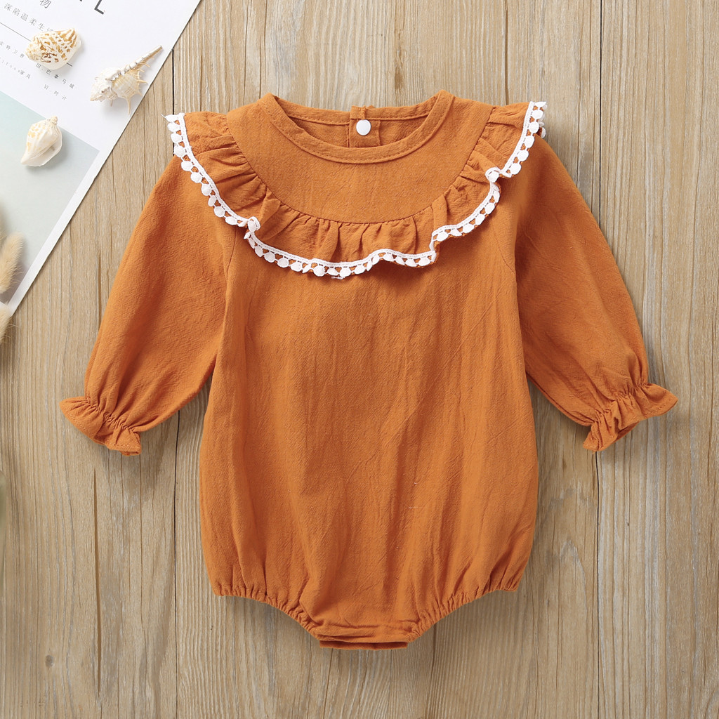 Baby Bodysuit Long Sleeve Baby Body Neonato Clothes Baby Girl Onesie Funny Bodies Bebe Algodon Body Dla Dziewcz Ruffles 6-24m Z4