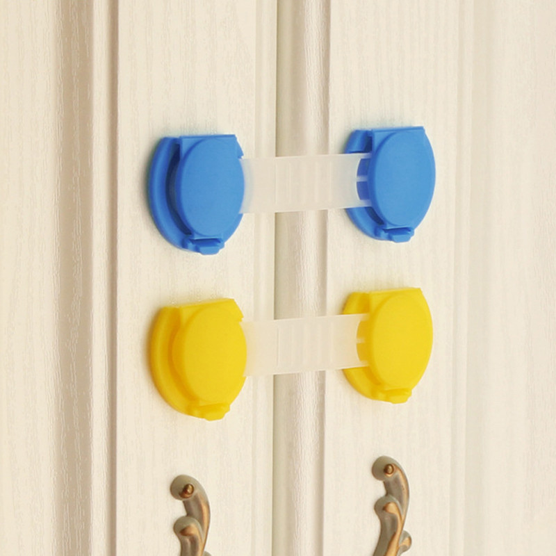 10 Pcs Drawer Door Cabinet Cupboard Safety Locks Baby Kids Safety Care Plastic Locks Straps Infant Protection Safety Lock