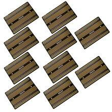Carte universelle de prototype PCB, panneau de circuit imprimé, platine de soudage double format, 10 pièces,