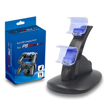 цена на Dual USB Charging Dock Station Stand for PS4 PlayStation 4 Game Controller Charger Dock For PS4 Pro /PS4 Slim Controller