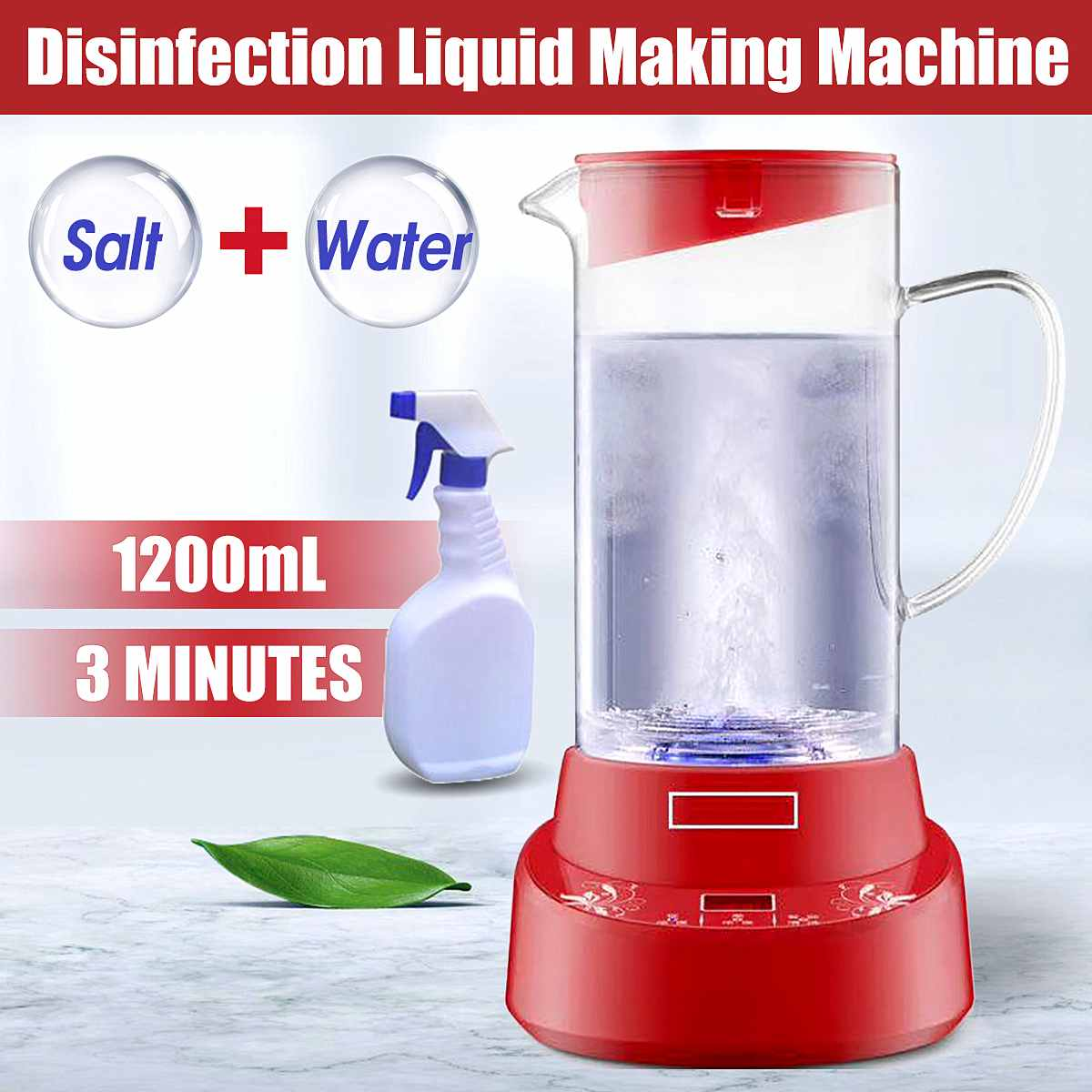 1.2L Household Electrolytic Disinfectant Water Manufacturing Machine Hypochlorous Generator Health Care Sterilization Machine