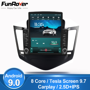 "FUNROVER IPS Tesla 9.7"" 8 cores Car Radio Multimedia autoradio Player Navigation GPS For Chevrolet Cruze 2009-2014 2din navi dvd(China)"