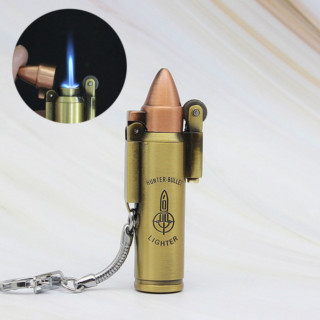 Bullet Shape Metal Gas Lighter Torch Electronic Turbo Lighters Smoking Accessories Cigar Cigarettes Lighter Gadgets For Men