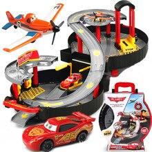 Pixar-Voiture de parking pour enfants, 2 3, jouet de parc portable, foudre, modèle McQueen, voiture de rail en alliage, jouet assemblé, Eudcational, pour garçons