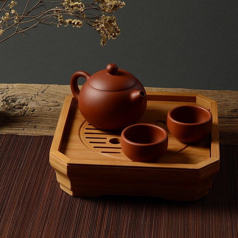 Tai Chi plateau Art Portable bambou plateau à thé Type de stockage thé bambou S plateau à thé chinois décoration de la maison accessoires