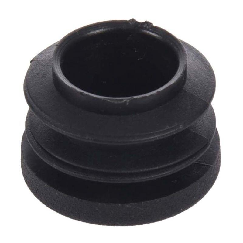 New 15pcs Black 19mm Dia Round Plastic Blanking End Cap Tubing Tube Insert