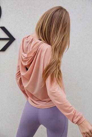 Respirável de Secagem Topos com Capuz Wmuncc Ginásio Blusa Feminina Design Rápida Aptidão Esportes Solto Yoga Camisa Correndo Ativo Wear Oco