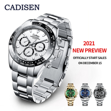 Nowe ogłoszenie 2021 (oficjalnie rozpocznij sprzedaż 15 grudnia) CADISEN automatyczne maszyny męskie zegarki Daytona 100M wodoodporny zegarek tanie tanio 10Bar CN (pochodzenie) Bransoletka zapięcie Biznes Mechaniczna Ręka Wiatr Automatyczne self-wiatr 21cm STAINLESS STEEL