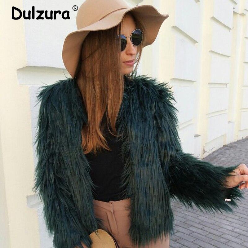 Winter Thicken Warm Faux Fur Coat Women 2019 Clearance