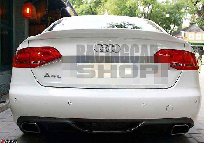 UNPAINTED  C-STYLE TRUNK BOOT SPOILER Fit For AUDI A4 B8 2008-2012 A010F