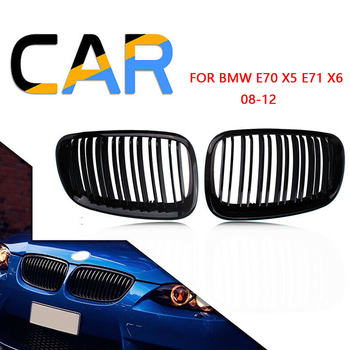 For BMW E70 2008 2009 2010 2011 2012  Car Replacement Front Bumper Hood Kidney Sport Grills Grille Matte Gloss Black