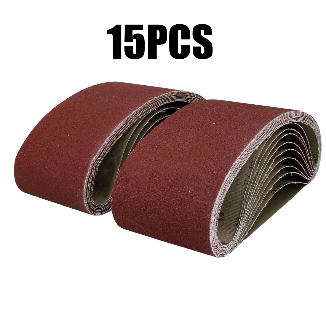 15Pcs Poshing Tool Sanding Belt For Wood Varnish Gypsum Plastic 40/80/120Grid Red Brown For Polishing