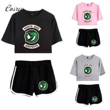 Riverdale Southside Clothing Set Sport Suit for Boy Tshirt Riverdale Shorts Sport Clothing South Side Serpents Riverdale Gifts(China)
