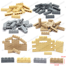 City Wall Brick Piece 1x4 Building Blocks Lot Diy Military Technology Figures Mini  Model Moc Child Christmas Birthday Gift Toy
