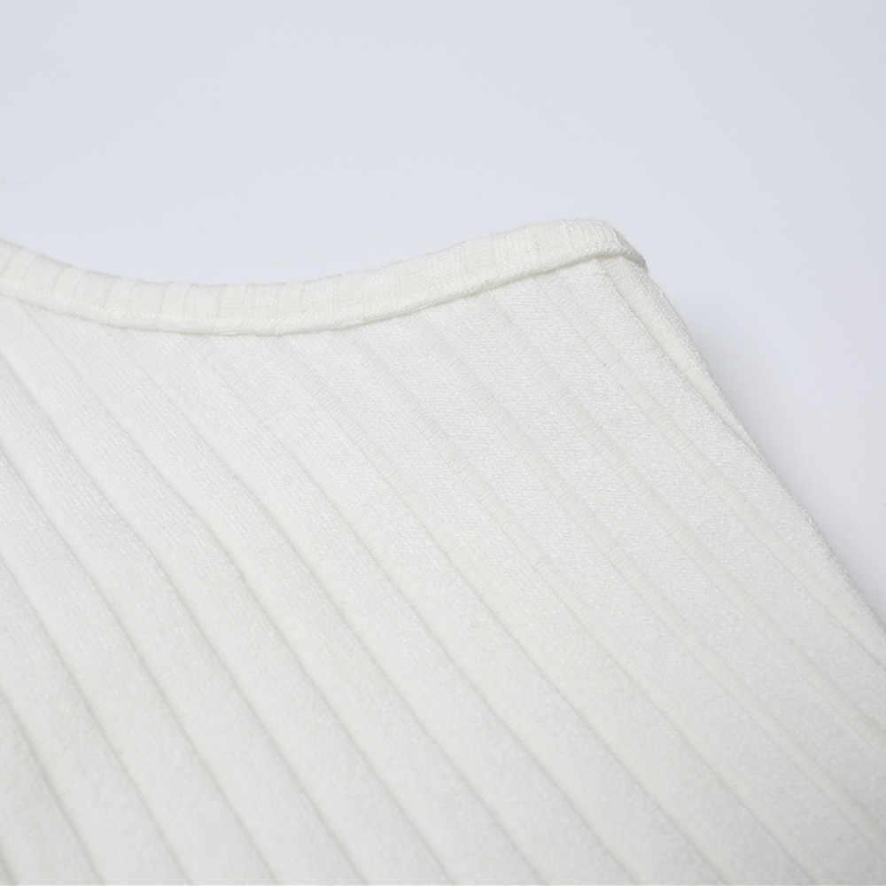 Sagace Fashion Vintage Tanpa Lengan Seksi Crop Top Dijual dan Panas Warna Solid Rompi Backless Halter Tank Top Menggantung Leher T-shirt