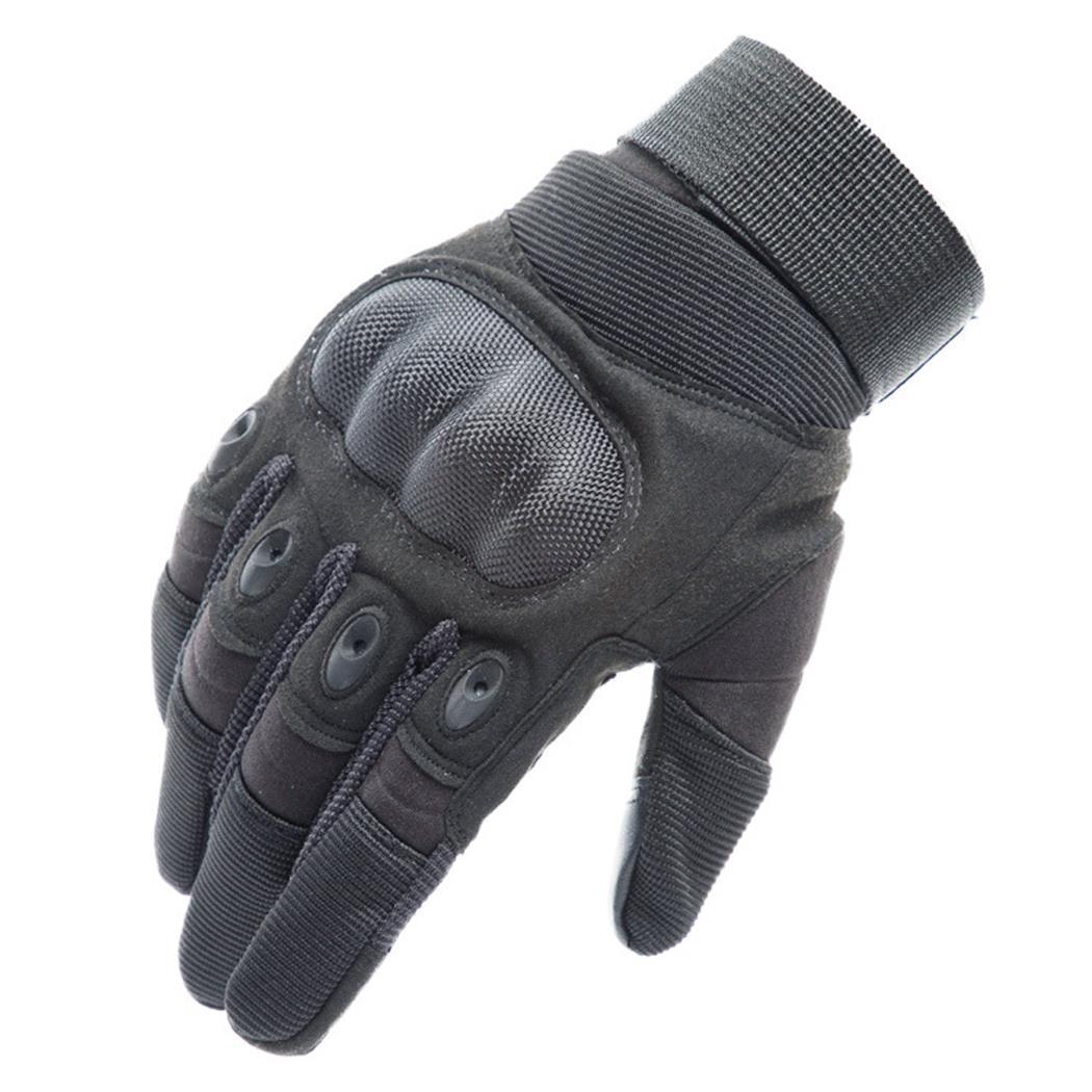 Мужские спортивные перчатки на открытом воздухе, дорожные коричневые/черные/зеленые Тактические перчатки варежки - Цвет: black