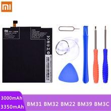 Original Telefon Batterie BM31 BM32 BM22 BM39 BM3C Für Xiaomi Mi3 Mi4 Mi5 Mi6 Mi7 Mi 3 4 5 6 7 lithium Polymer Batterien Kostenlose tools
