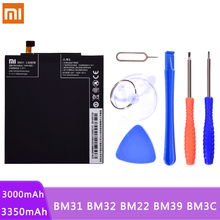 Originele Telefoon Batterij BM31 BM32 BM22 BM39 BM3C Voor Xiaomi Mi3 Mi4 Mi5 Mi6 Mi7 Mi 3 4 5 6 7 Lithium polymeer Batterijen Gratis Tools