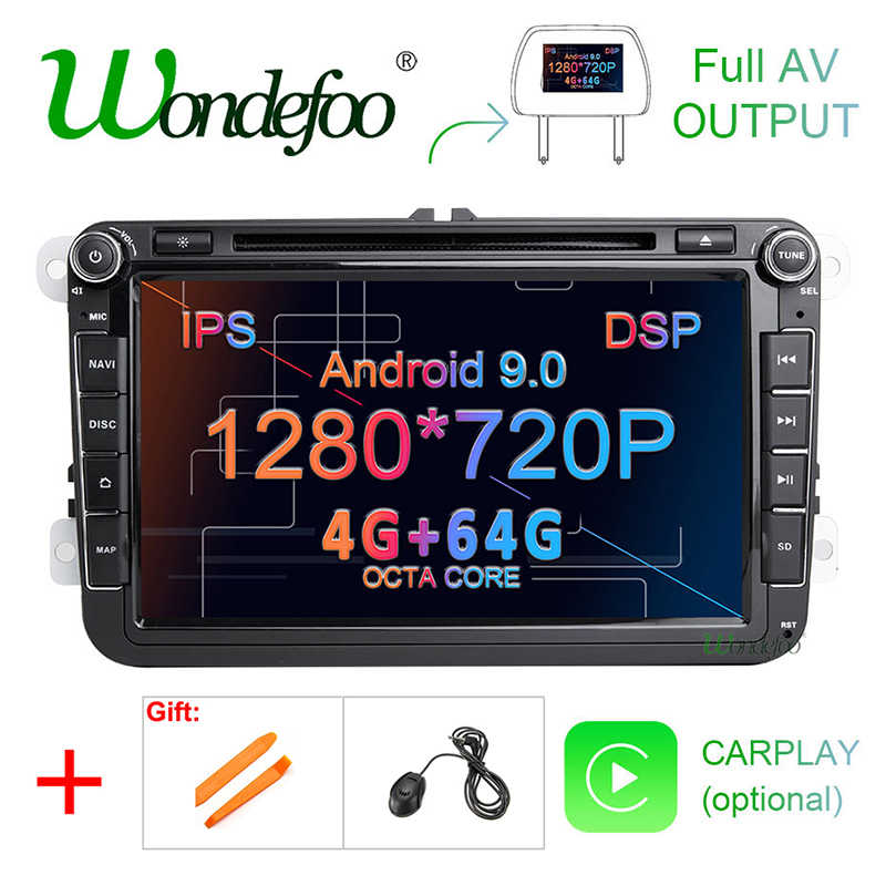 IPS DSP Android 9,0 64G 2 din multimedia PLAYER Für Schnelle Yeti VW passat b6 golf 4 5 6 polo tiguan Seat Altea Toledo BORA RADIO