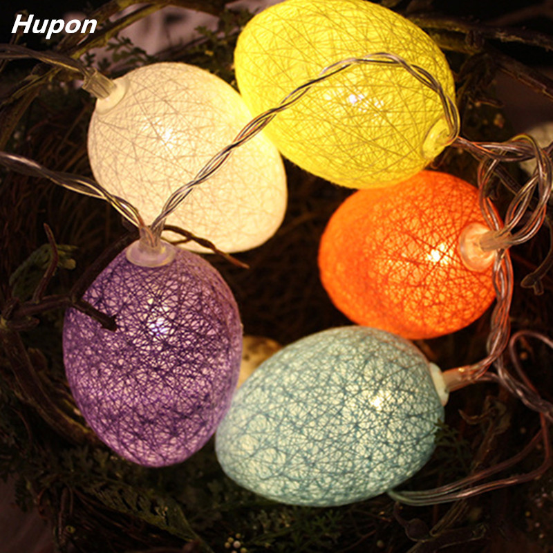 Lamp 10 LED Easter Egg String Fair Light Festival Terrace Christmas Family 3V Battery Outdoor Lantern Flower Easter Decoration