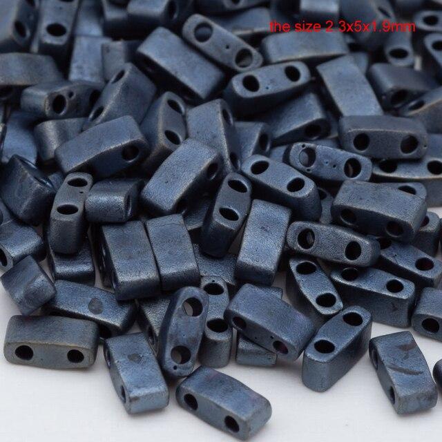 Taidian miyuki contas de jóias para artesanal cor preta mixsize diy presente brincos pulseira retro estilo cor 3g/5g