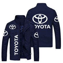 Spring and autumn new car logo printing cardigan jacket men's casual wear jacket stand-up collar zipper jacket jacket men's jack