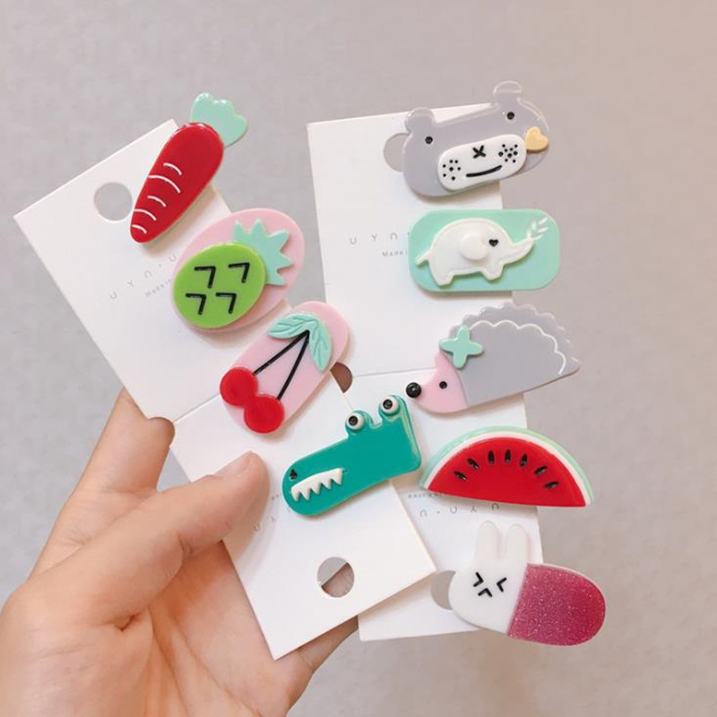 Women Girls Cute Cartoon Animal Geometic Hair Pin Hair Clip Barrette Bobby Pin