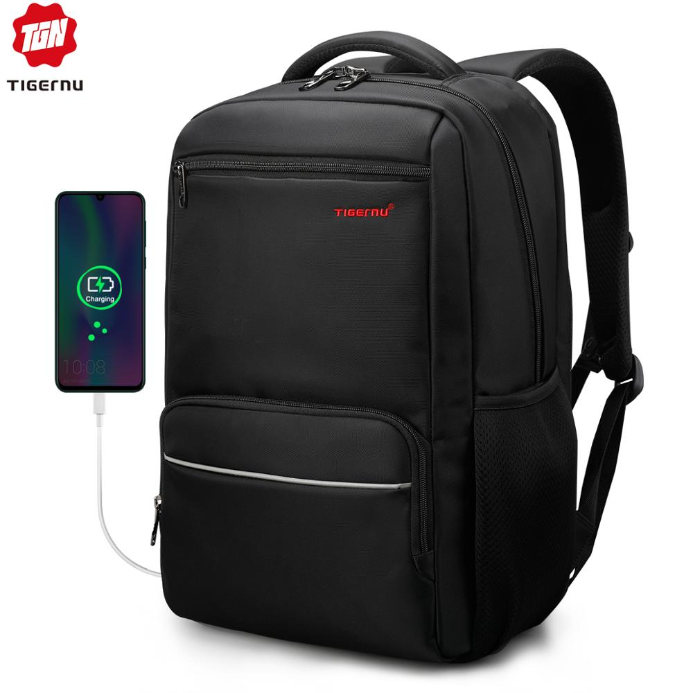 With USB Charging Port Laptop Backpack School  Shoulders Bag Waterproof OP