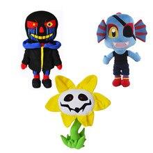 Undertale Sans peluche poupée dessin animé Zombie noir peluche doux tournesol Alien poupée Moive jeu personnage enfants cadeaux d'anniversaire