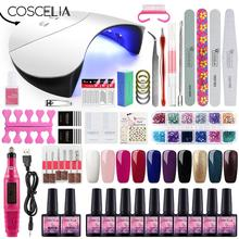 Gel Polish Nail Art Manicure Tools Kit UV LED Nail Lamp Dryer Colors Gel Nail polish DIY Tools Nail Set Kit Gel Varnish Set цена