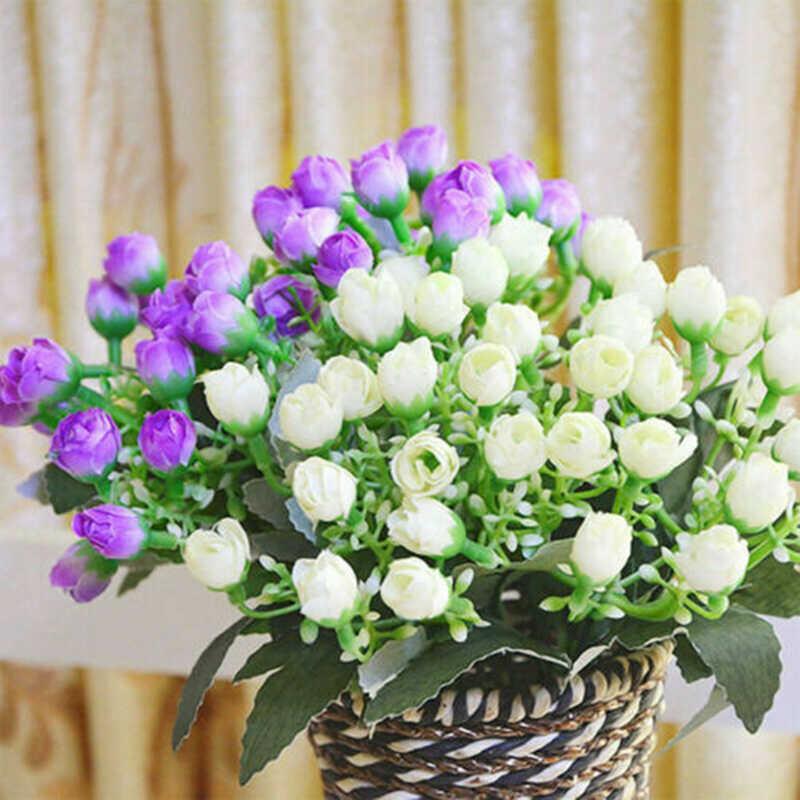Sztuczne jedwabne głowy kwietna ściana na wesele party wazony do domu do dekoracji akcesoria produkty gospodarstwa domowego tanie sztuczne kwiaty