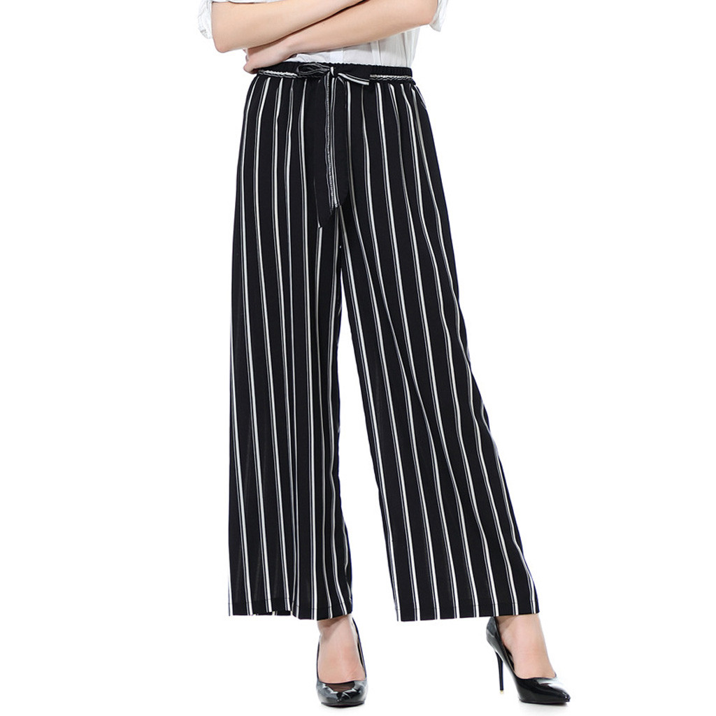 Cosy Ladies Office Pants Fashion Loose Long Wide Leg Women's Pants High Waist Casual Clothes For Women Pantalon Femme