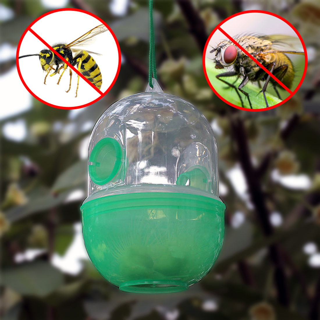 Reusable Garden Wasp Trap Kills Pest Fly Killer Reject Asian Hornet Catcher Hanging Killing Anti Bee Yellow Jacket Yellowjacket