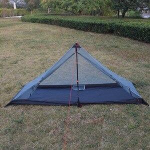 Image 2 - 340 grams 3 seasons T doors design strut corner Ultra light  outdoor camping tent fit most pyramid tent