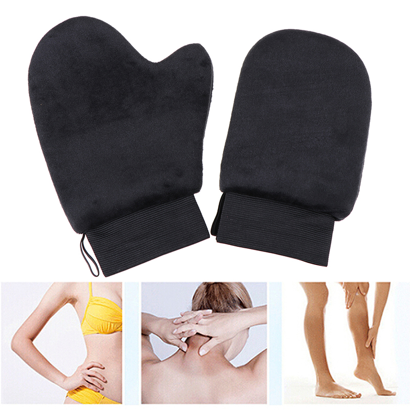 Self Tanner Body Cleaning Glove Reusable Body Self Tan Applicator Tanning Gloves Cream Lotion Mousse Body Cleaning Glove