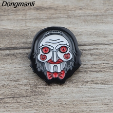 K505 Billy the Puppet Horror Pins Metal Enamel and Brooches for Lapel Pin Backpack Bags Badge Collection Gifts