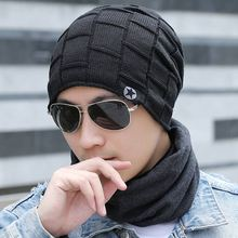 2019 Mens Fashion Winter Beanie Hat Solid Casual Knitted Beanies Caps