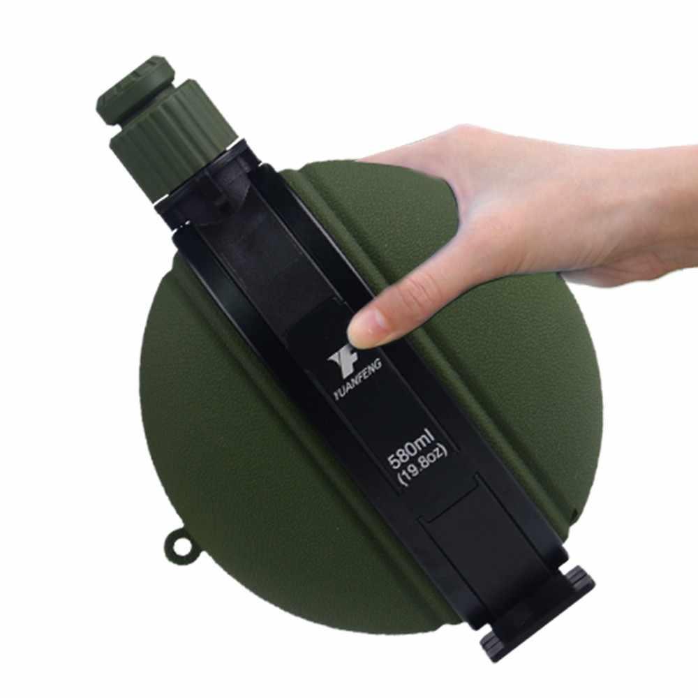 Outdoor Foldable Botol Air 580 Ml Militer Portable Hidrasi Ketel Silikon untuk Berburu Camping Hiking Bersepeda Kelangsungan Hidup