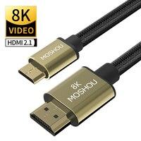 Cavo compatibile da Mini HDMI a HDMI MOSHOU 8K @ 60Hz 4K @ 120Hz