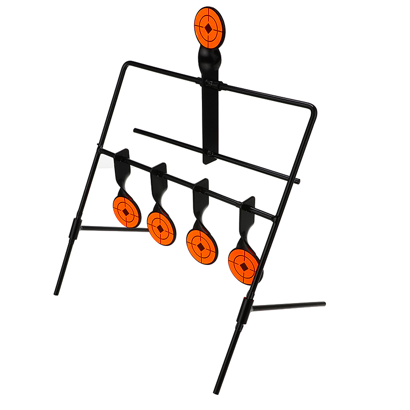 Self Resetting Spinning Shooting Metal Target Set Paintball Accessories For Trainning Playing Practice With 5 Targets