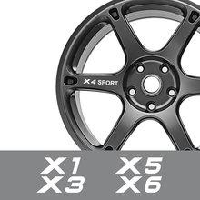 For BMW X5 E70 F15 G05 X1 F48 X3 F25 X6 E71 X2 F39 X4 F26 X7 G07 Auto Accessories 4PCS Car Wheel Rim Stickers Vinyl Film Decals