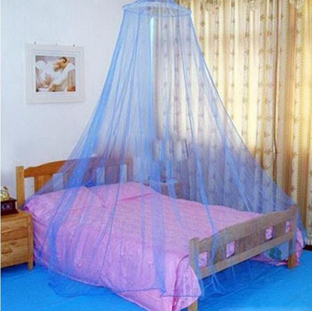 1 Pc  Super Deal Elegant Round Lace Insect Bed Canopy Netting Curtain Dome Polyester Bedding Mosquito Net Home Furniture