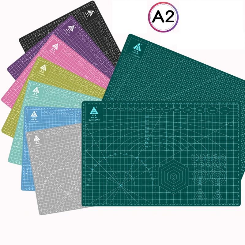 60 * 45cm A2 Cutting Board Grid Line Self-healing Cutting Board Craft Card Multi-color Double-sided Desktop Cutting Pad