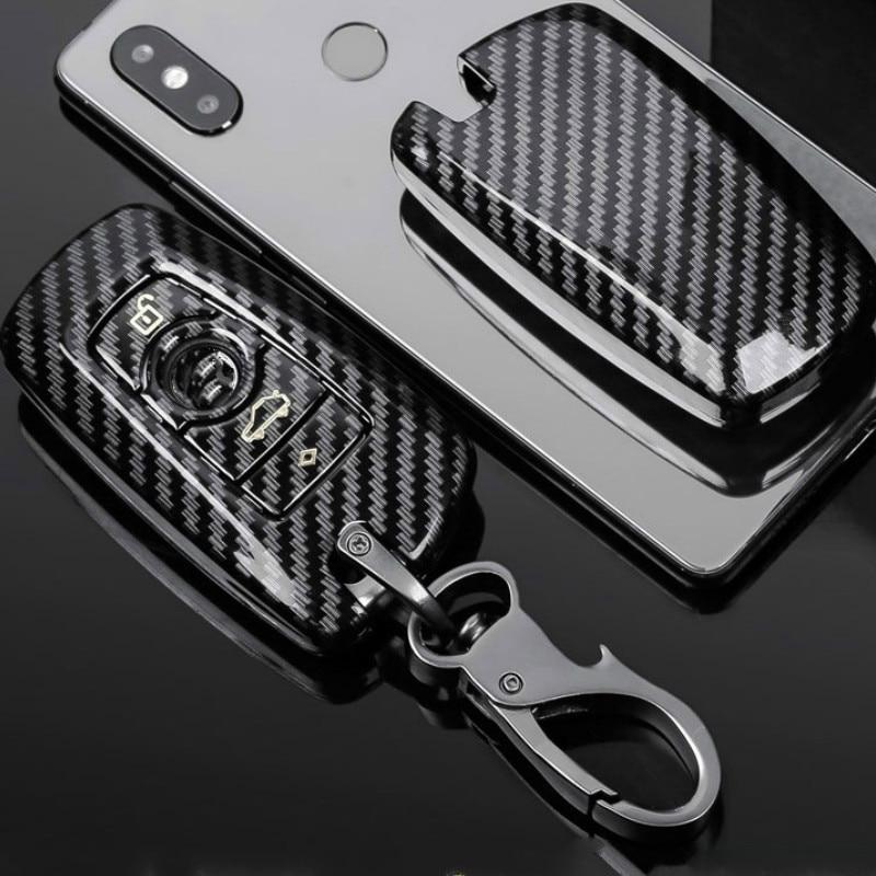 Чехол для ключей автомобиля из углеродного волокна ABS для BMW F30 F20 F10 F18 F22 F01 X3 X4 F06 F02 M3 M5 Умный брелок с дистанционным управлением чехол для брел...
