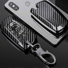 Carbon Fiber ABS Car Key Case For BMW F30 F20 F10 F18 F22 F01 X3 X4 F06 F02 M3 M5 Smart Keychain Remote Control Fob Shell Cover