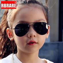 RBRARE Classic Sunglasses Girls Boys Colorful Mirror Children Glasses Metal Frame Kids Sun Oculos Infantil